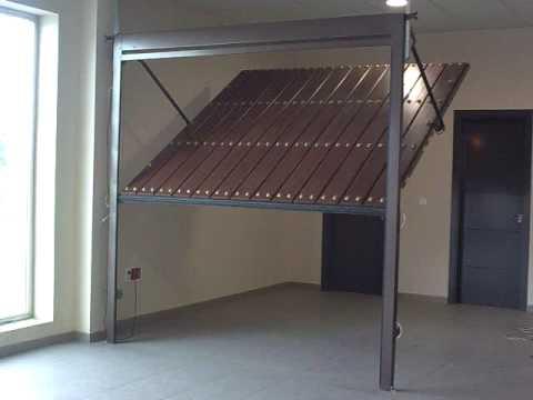 Подъемные складные ворота в гараж 66