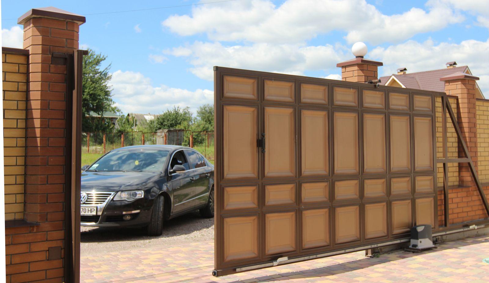 Ворота в частном доме своими руками фото