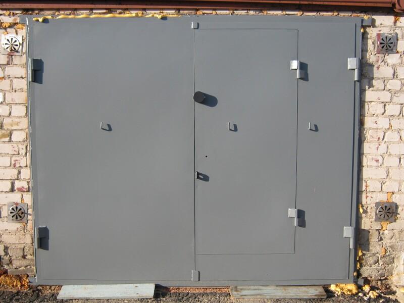Ворота металлические на гараж размеры цена в построить гараж под ключ рязань