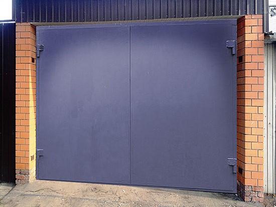 Железные ворота на гараж цена утепленные железные ворота для гаража